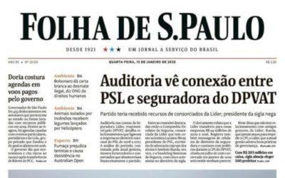 Auditoria vê indício de ligação entre PSL e gestora do DPVAT